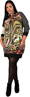 Poetic Justice Plus Size Hannah Marble Print Dress