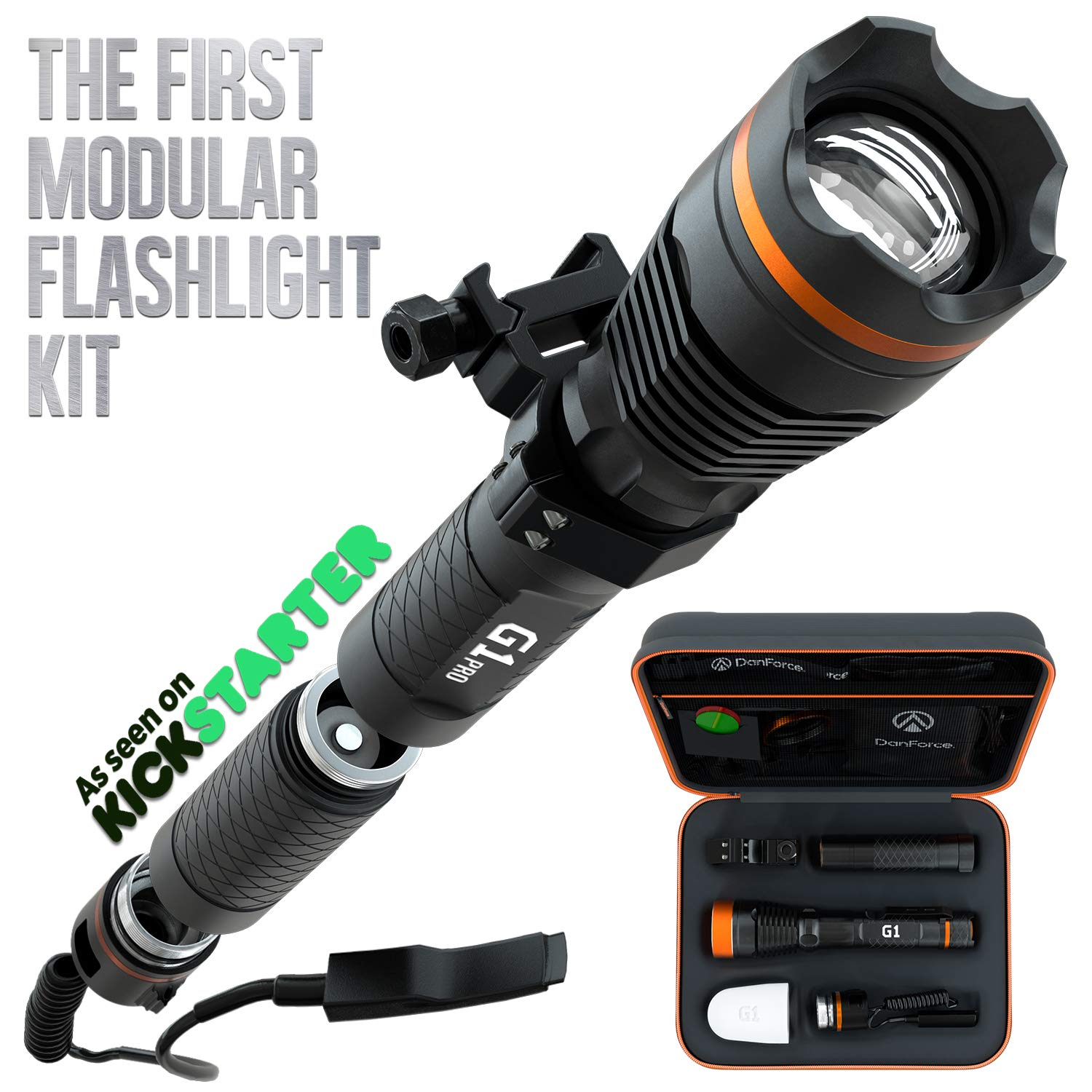 DanForce PRO Flashlight Rechargeable Flashlights