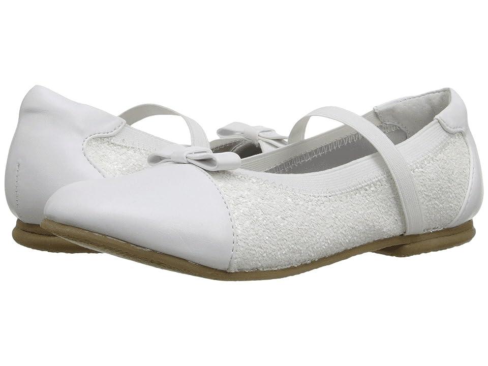 Jumping Jacks Kids Balleto Destiny II (Toddler/Little Kid/Big Kid) (White/Glitter) Girls Shoes