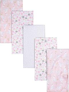 Gerber Girls Newborn Infant Baby Toddler Nursery 100% Cotton Flannel Receiving Swaddle Blanket, Mommy & Me Giraffe Pink, ...