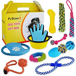 Dog Toy Gift Box – Great Pet Gift of Puppy Toys for Small Medium Dogs – Great for Puppy Training – Gifts of Dog Rope - Rop...