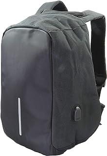 mochila unisex portátil 15.6 pulgadas, puerto USB ordenador impermeable cremallera antirrobo moderna, resistente uso diario estudiante, negocio, escolares.