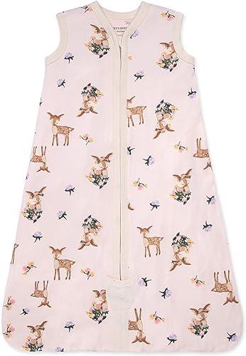 Burt's Bees Baby Unisex-Baby Beekeeper Wearable Blanket, 100% Organic Cotton, Swaddle Transition Sleeping Bag
