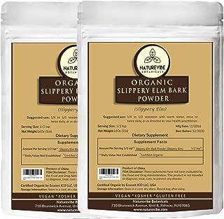 Naturevibe Botanicals Slippery Elm Bark Powder 2lbs (2 Packs of 1lb each) | Non-GMO and Gluten Free | Skin Care