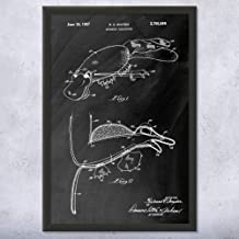 Patent Earth Framed Platypus Hand Puppet Print, Ventriloquist Gift, Prop Comedian, Retro Toys, Hobbyist Collector, Kids Entertainment Chalkboard (Black) (5