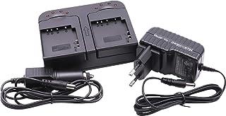 Cargador rápido Dual 2 Ranuras Incl. Cargador para el Coche para batería NP-BX1 como Sony FDR-X3000.