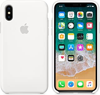coque iphone x transparente contour blanc