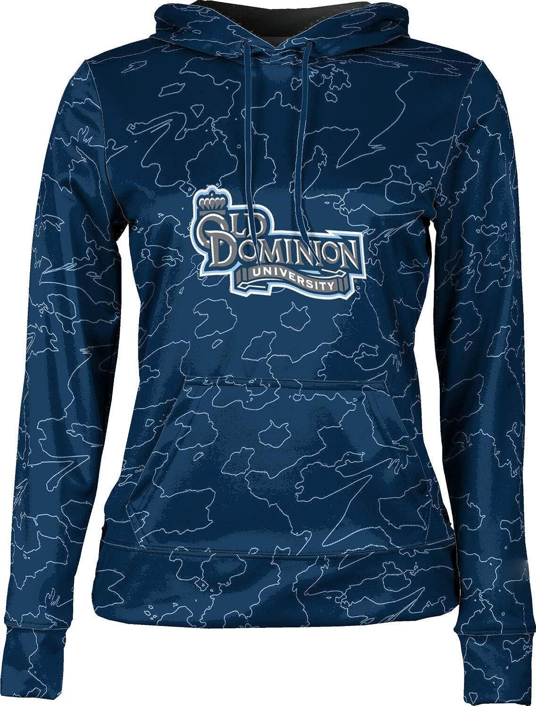 Old Dominion University Girls' Pullover Hoodie, School Spirit Sweatshirt (Topography)