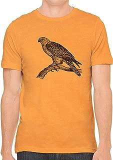 Austin Ink Apparel Perched Hunting Hawk Cotton Crewneck Unisex T-Shirt