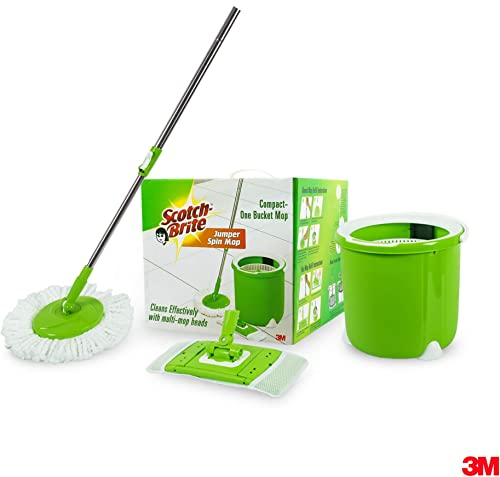 Scotch-Brite Jumper Spin Mop with Round and Flat Heads with Refill product image