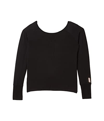 Lorna Jane Post Yoga Twist Long Sleeve Top (Black) Women