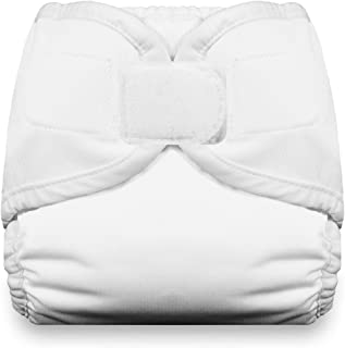 Thirsties Diaper Cover with Hook and Loop, White, Small (Discontinued by Manufacturer)