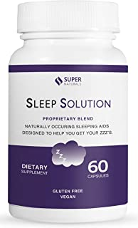 Sleep Aid for Adults by Super Natural Health | Natural Sleeping Pills | 100% Natural Ingredients | Supports Better Sleep | Improves Insomnia | Melatonin | 60 Capsules