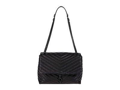 Rebecca Minkoff Edie Flap Shoulder Bag (Black 2) Handbags