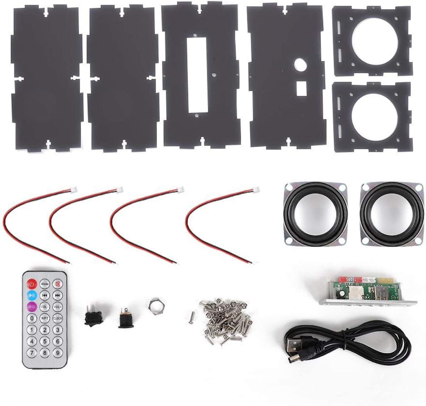 PUSOKEI DIY Bluetooth Speakers Kit 3W Assembly MP3 Maker Discount mail order Music Under blast sales