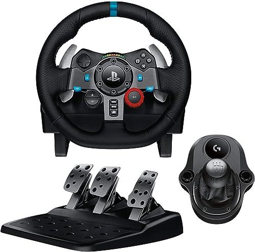 Logitech G29 Driving Force Volant de Course avec Levier de Vitesse Pédales, Retour de Force Réaliste, Palettes au Vol...