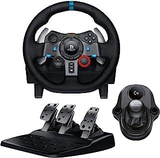 Logitech G29 Driving Force Volant de Course avec Levier de Vitesse Pédales, Retour de Force Réaliste, Palettes au Volant e...