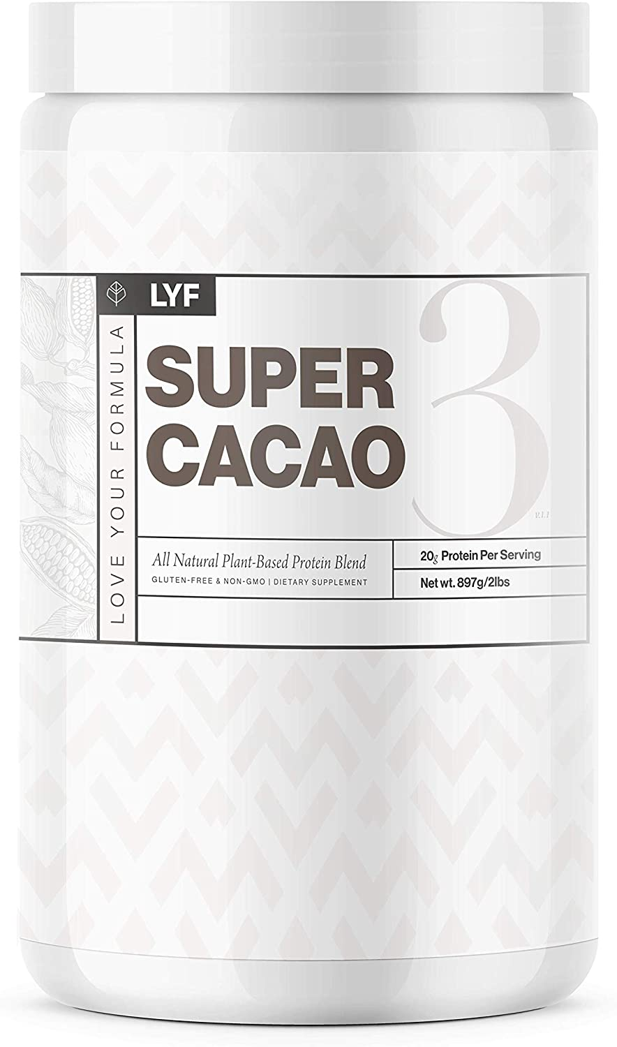 LYF Protein Powder Super 1 year warranty Cacao Plant Gifts Packe Vegan – Based