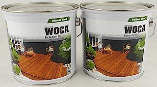 Woca Spar-Set Terrassenöl Exterior Exclusive Bangkirai-Öl 2x 3 L