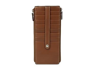 Lodis Accessories Audrey RFID Joan Double Zip Card Case (Sequoia/Papaya) Wallet