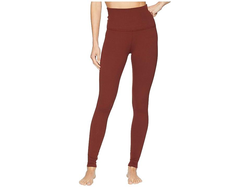 Beyond Yoga Take Me Higher Long Leggings (Red Rock) Women