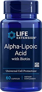 Life Extension Alpha Lipoic with Biotin 250 Mg, 60 Capsules