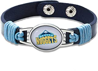 """GameWear Denver Nuggets Leather Bracelet with Snap Closure 7"""" to 9"""""""