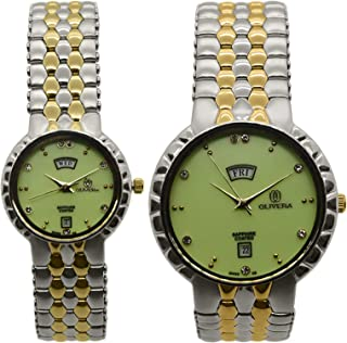 OLIVERA Set Of Analog Casual Watch For Unisex - Strap Stainless Steel - OGP2410