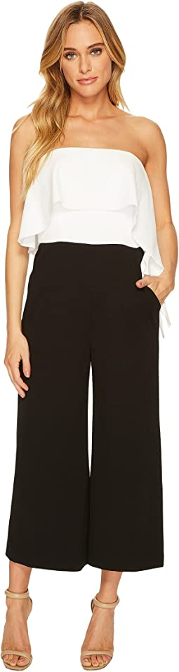 Donna Morgan - Strapless Crepe Cropped Jumpsuit