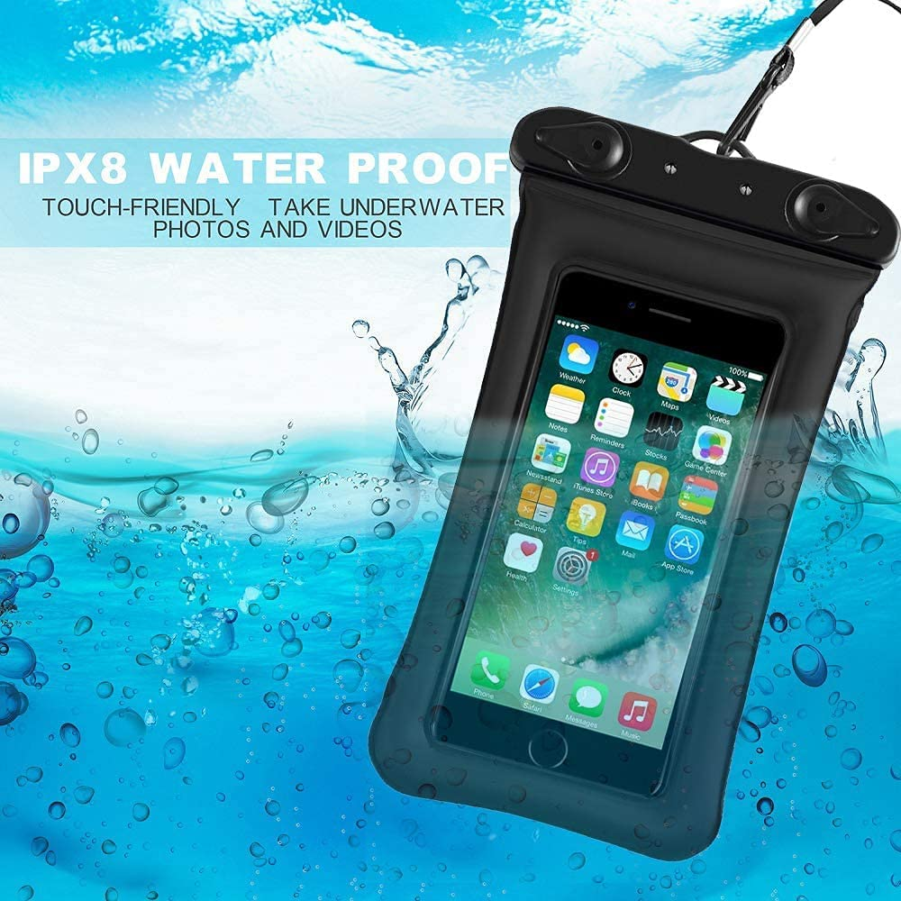Jmart Floating Waterproof Phone Pouch Holder Dry Bag Case for Samsung Galaxy S21 Ultra S20+ S10 S9 Note 20 A01 A11 A12 A32 A42 A52 A10e A20 A21 A51 A71 iPhone 12 Pro Max 11 XS XR 8 Plus up to 7
