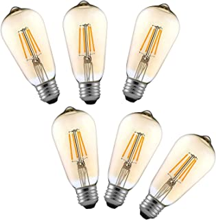 Tememdy LED Edison Bulb,Antique 4W Vintage Edison Bulb,E26/E27 ST58 Dimmable