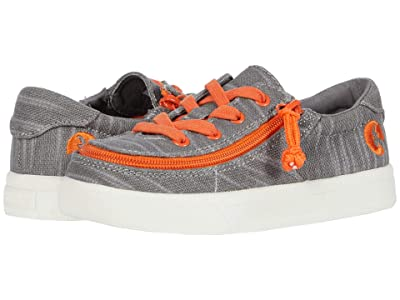 BILLY Footwear Kids Classic Lace Low (Toddler) (Grey/Orange) Boy
