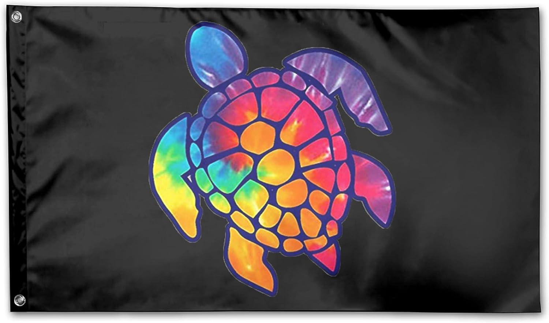 Tie Dye Sea Turtle Outdoor Decorative Yard Flag Home Garden Flag 3 X 5 Ft