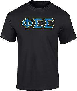 Phi Sigma Sigma Twill Letter T Shirt