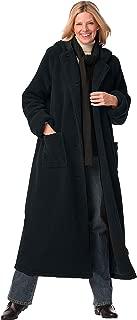 Woman Within Women's Plus Size Long Hooded Berber Fleece Coat