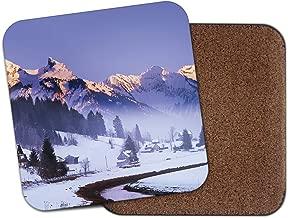 Beautiful Mountain Coaster - Switzerland Einsiedelnt Winter Travel Gift #12738
