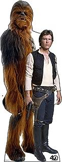 Advanced Graphics Han Solo & Chewbacca Life Size Cardboard Cutout Standup - Star Wars 40th Anniversary