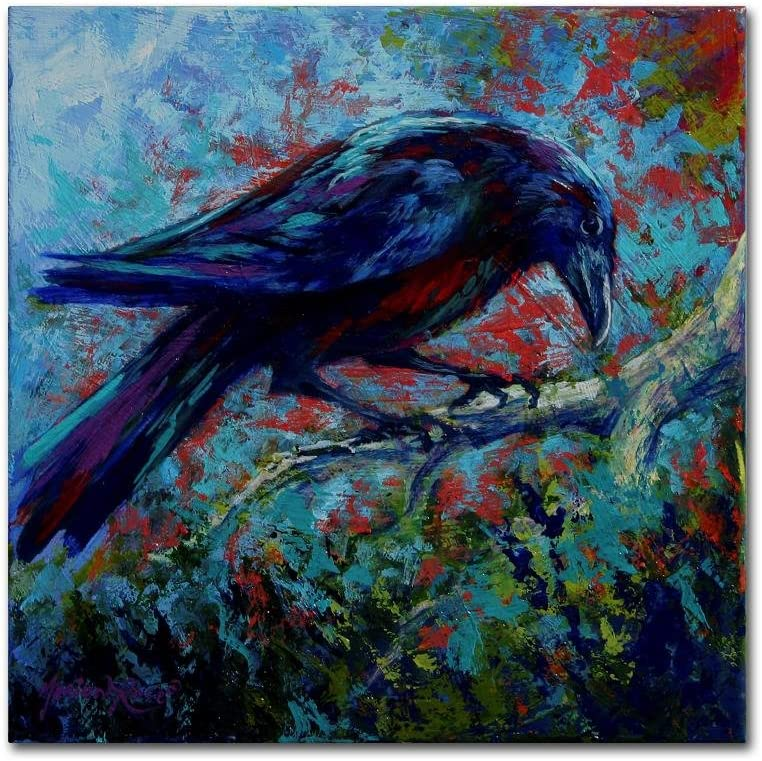 Raven by Marion Rose Wall Canvas Sacramento Mall 2021 model 18x18-Inch Art