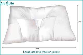 Arc4life Cervical Neck Traction Pillow for Sleeping - King Size Side Sleeper and Back Pillows for Beds Neck Pillow for Sleeping Standard Neck Pillow for Sleep Large 28