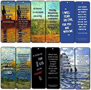 Christian Inspirational Bookmarks Cards - Be Strong NIV (60-Pack) - Jeremiah 29:11 Stocking Stuffers for Baptism, Youth Group, Cell Group, VBS Bible Study, Mission Trip - Best Church Supplies