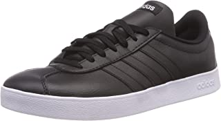 adidas Women's VL Court 2.0 Shoes, Core Black/Core Black/Silver Metallic