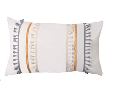 Flber outlet Pillow Queen Sham White Pillow Cases Cotton Bed Comforter,18.9in x29.1in,Set of 2