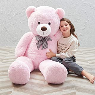 MorisMos Giant Cute Soft Toys Teddy Bear for Girlfriend Kids Teddy Bear (Pink, 47 Inch)