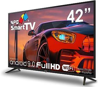 "NPG 430L42F 2021 – 42"" Full HD Smart TV Android 9.0, Procesador Quad Core, WiFi, DVB-T2/C, PVR, Screen Mirroning, Smart TV..."
