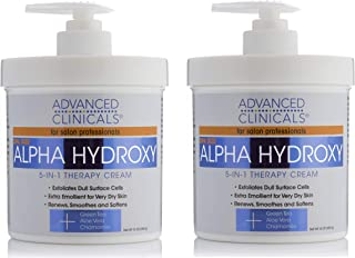 16oz Anti-aging 50% OFF Body Lotions & Moisturizers Advanced Clinicals Alpha Hydroxy Acid Cream For Face And Body