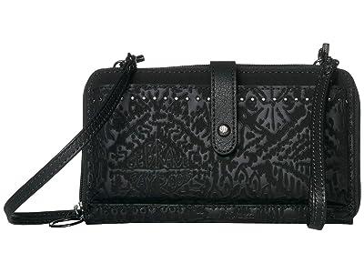 Sakroots Arcadia Smartphone Crossbody (Black) Handbags