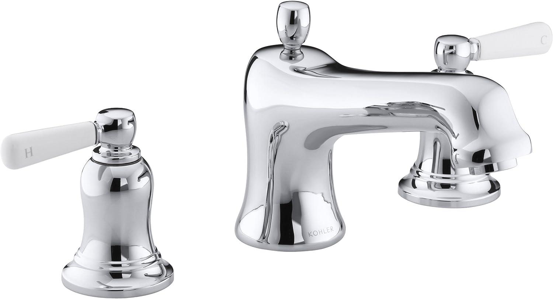 KOHLER K-T10592-4P-CP Bancroft Deck-Mount Bath Faucet Trim Polished Chrome