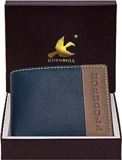 Hornbull Men's Navy/Mud Taylor Genuine Leather RFID Blocking Wallet
