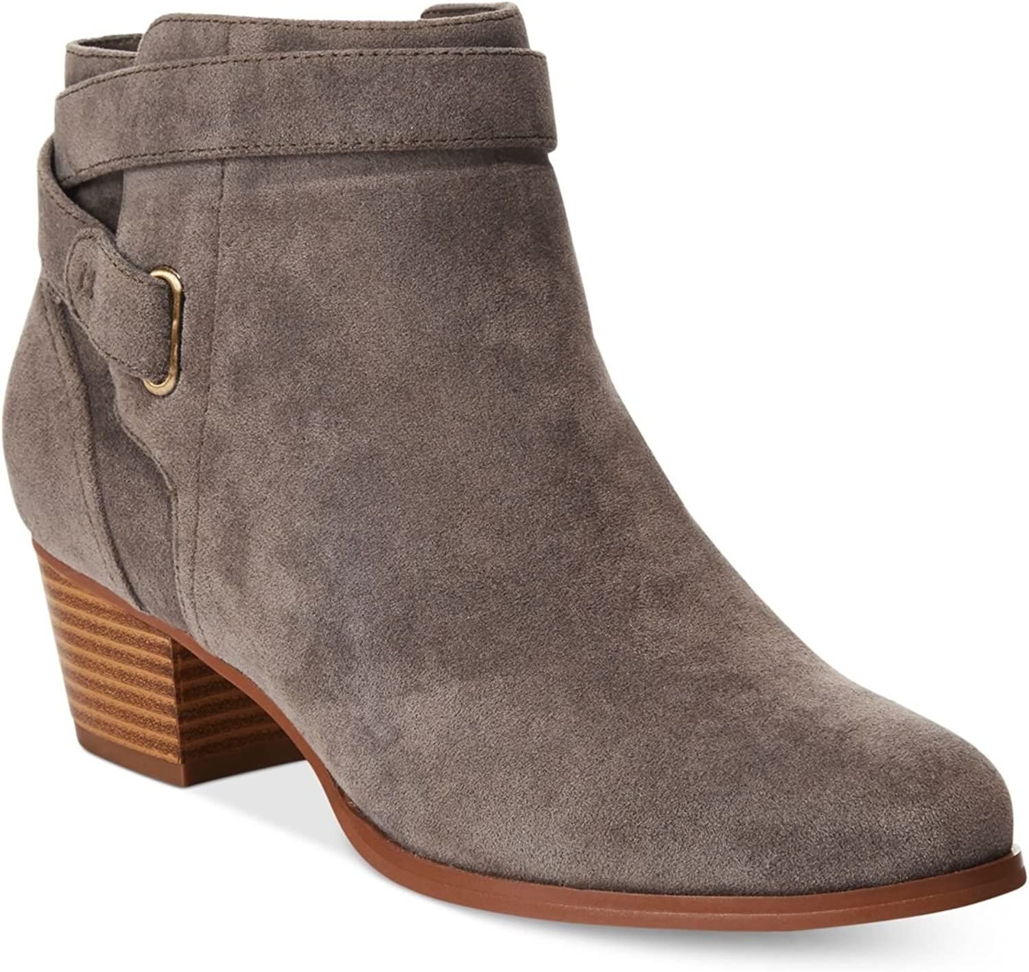 Giani Bernini Womens Oleesia Faux Suede Ankle Booties Taupe 7 Wide (C,D,W)