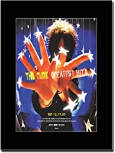 Gasolinerainbows - The Cure - Greatest Hits - Revista montada Obra de Arte Promocional en una Montura Negra - Matted Mounted Magazine Promotional Artwork on a Black Mount